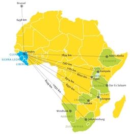 Ebola en toerisme in Afrika