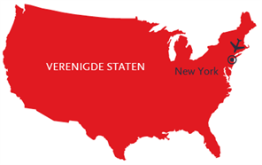 Kaart voor reis mee naar de stad die nooit slaapt new york