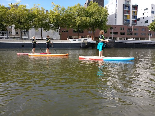 SUP en citygolf in Mechelen