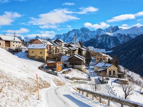 Sneeuwreis in de Zwitserse Alpen
