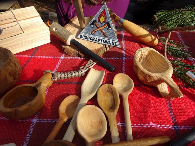 Workshop houten beker en lepel snijden