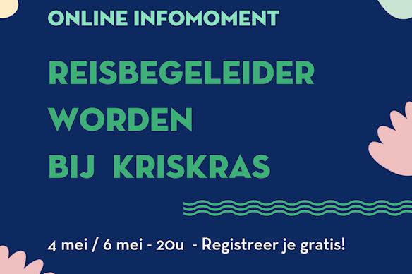 Online Infomomenten 'Reisbegeleider worden bij KrisKras'
